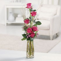 607   Rose Curly Willow Bud Vase  $39.95